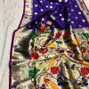 Attractive Gorgeous Purple Kanchipuram silk saree dvz0002053