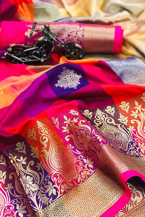 Banarasi Weaving Handloom silk Extra ordinary saree design dvz0001008-3