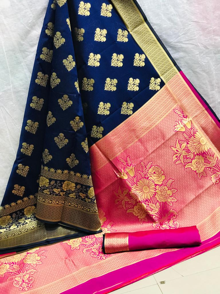 Beautiful Blue Art Silk saree dvz0002525
