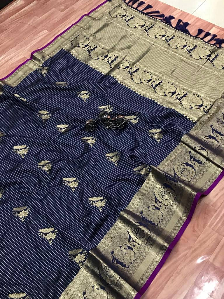 Beautiful Jacquard silk saree in vibrant Blue color dvz0001779