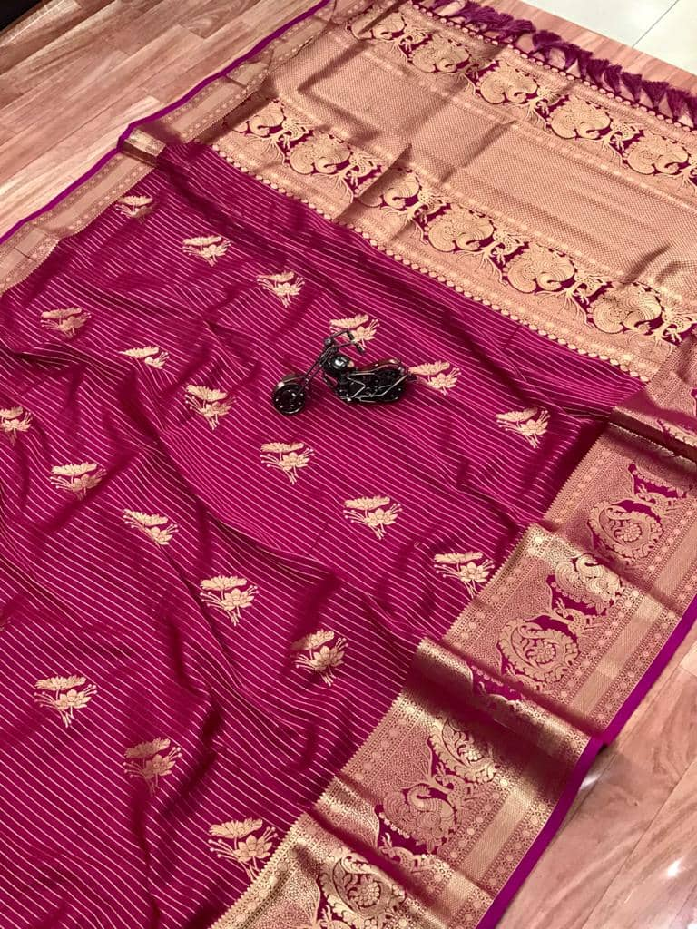 Beautiful Jacquard silk saree in vibrant Pink color dvz0001782