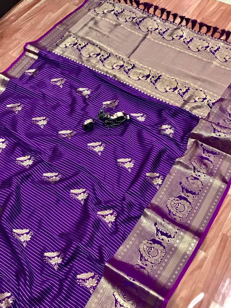 Beautiful Jacquard silk saree in vibrant Purple color dvz0001781