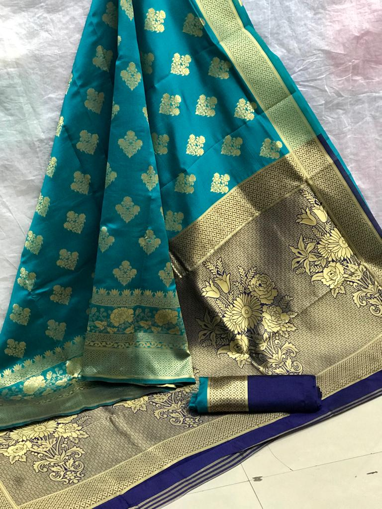 Beautiful Sea Blue Art Silk saree dvz0002526