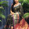 Best Kanchipuram Silk Traditional saree in Black dvz0002633