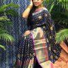 Best Kanchipuram Silk Traditional saree in Blue dvz0002634