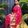 Best Kanchipuram Silk Traditional saree in Pink dvz0002637