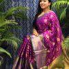 Best Kanchipuram Silk Traditional saree in Purple dvz0002636