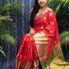 Best Kanchipuram Silk Traditional saree in Red dvz0002638