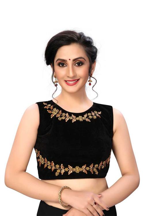 Black Readymade Blouse online india dvz0001037