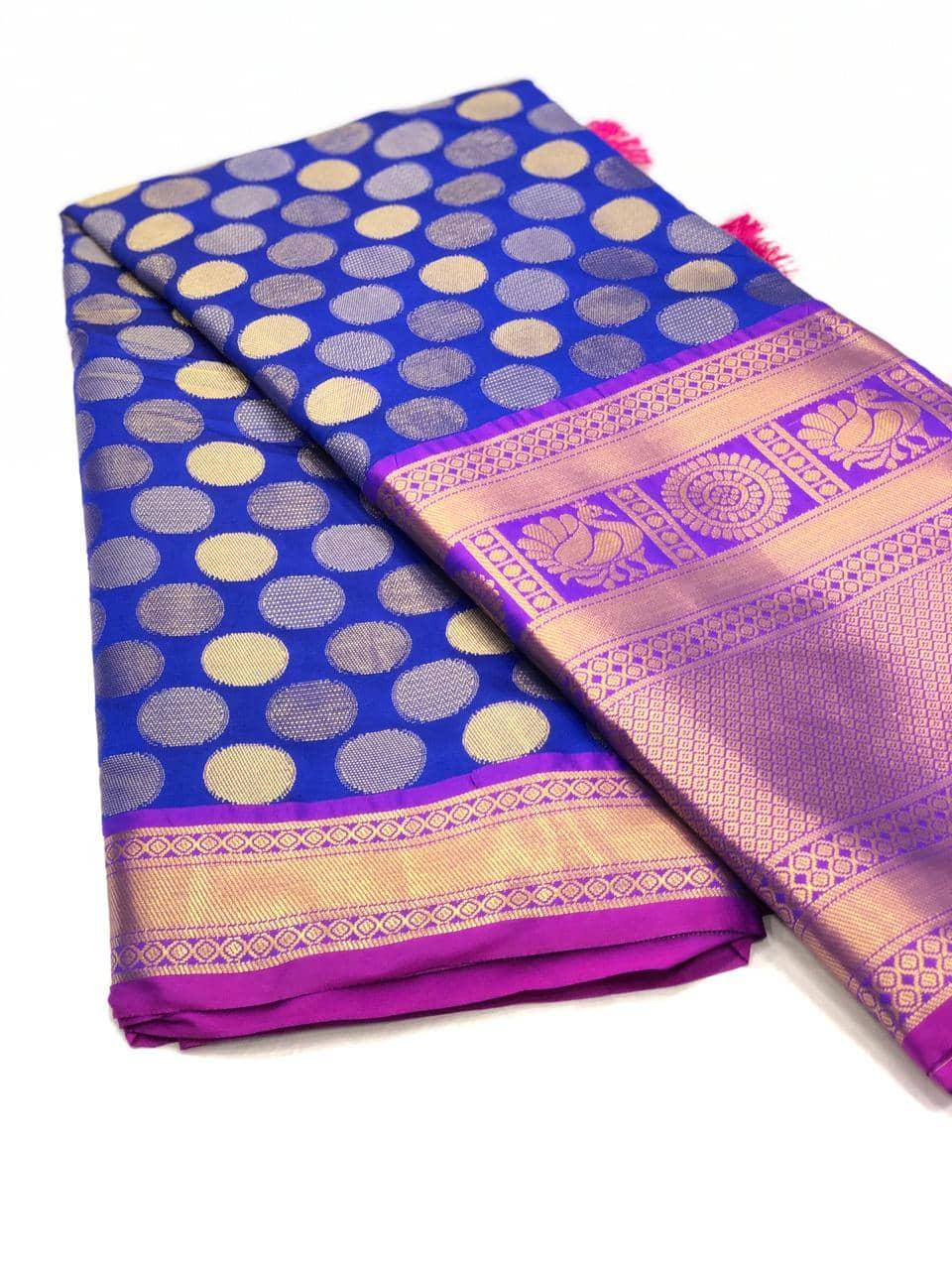 Blue Designer Kanchipuram Silk Saree online india dvz0001724