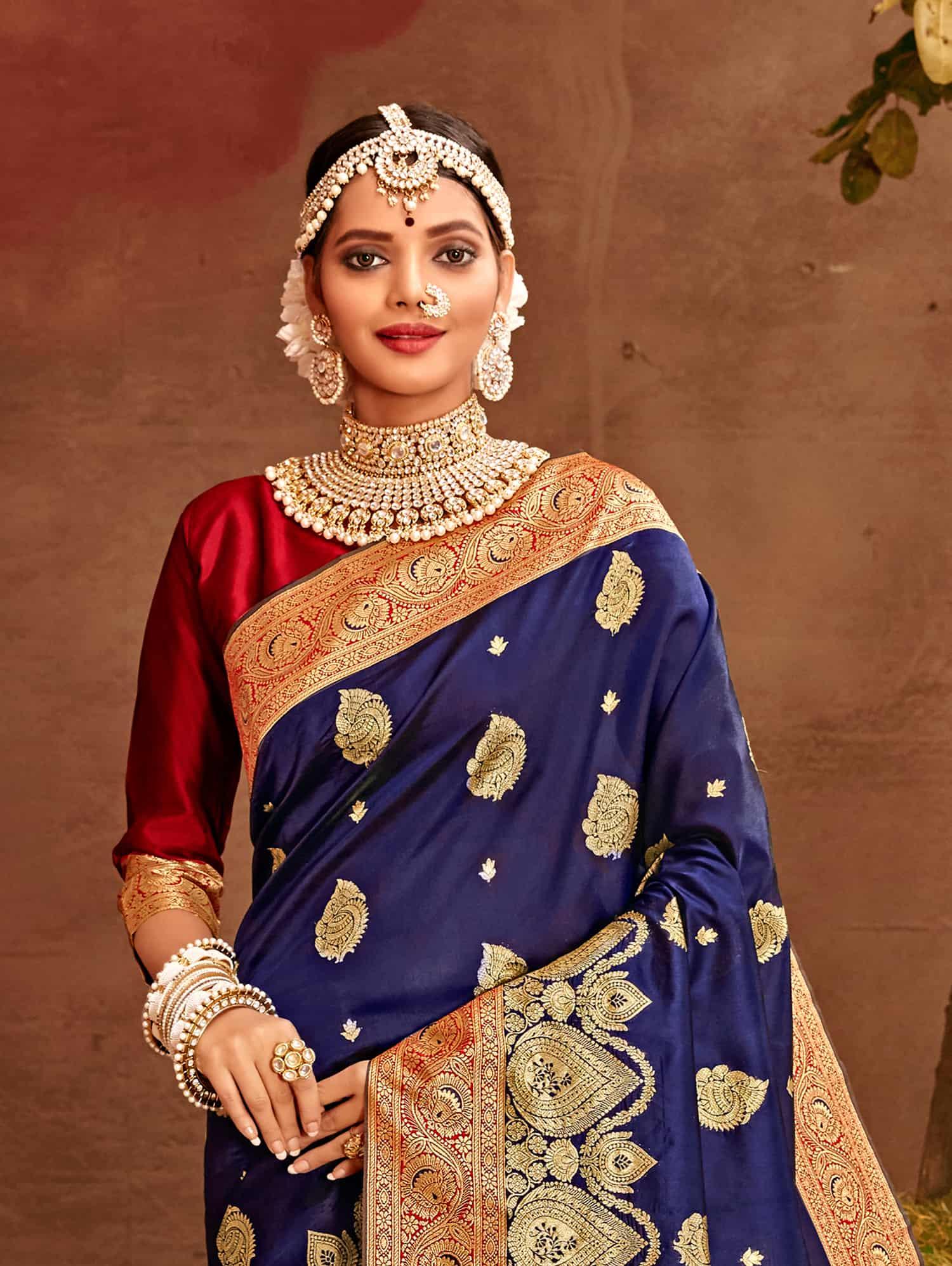 Blue Fancy soft silk Traditional saree dvz0002516-2