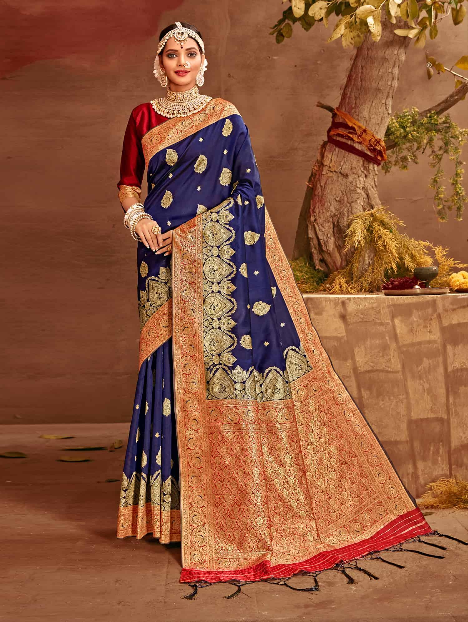 Blue Fancy soft silk Traditional saree dvz0002516