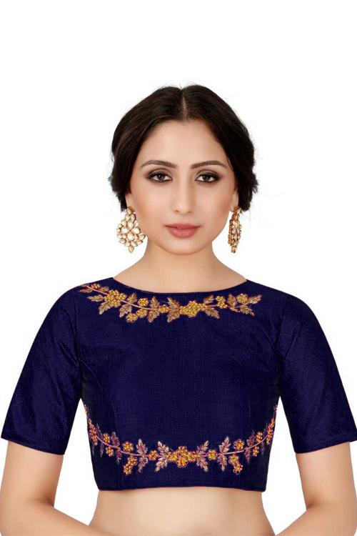 Blue Readymade Blouse online india dvz0001039