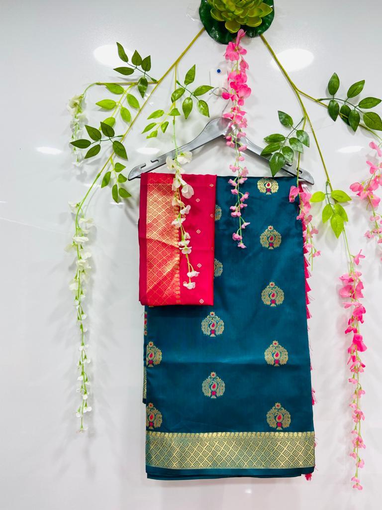 Blue silk cotton sarees online shopping dvz0002075