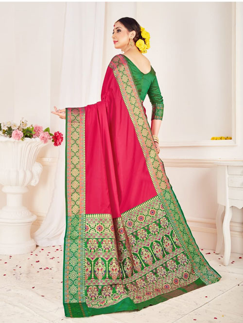 Branded Soft silk weaving saree (Pink) dvz0001308
