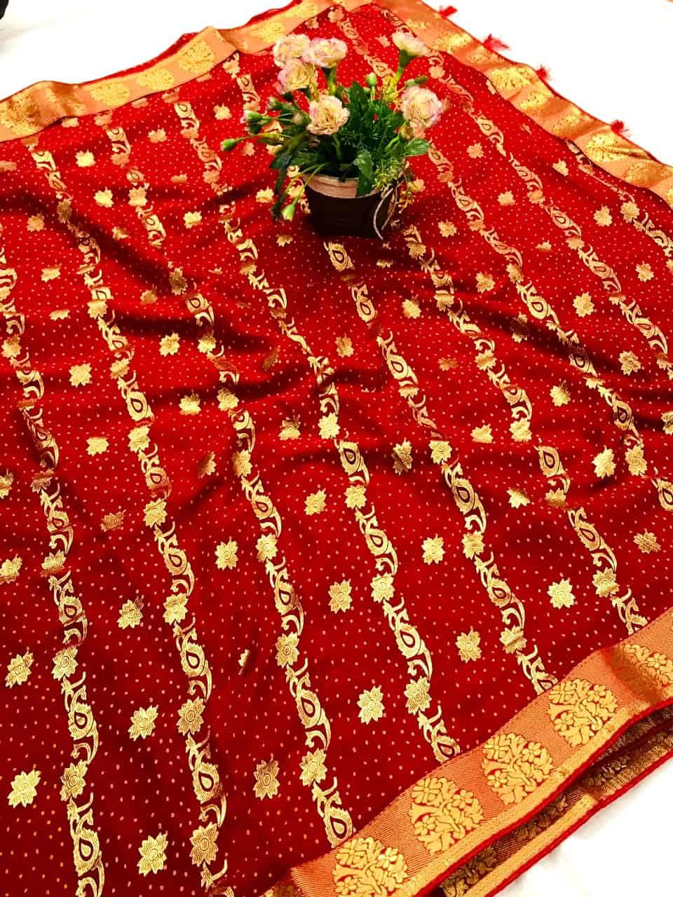 Charming Maroon Colored marbal chiffon printed saree dvz0002521