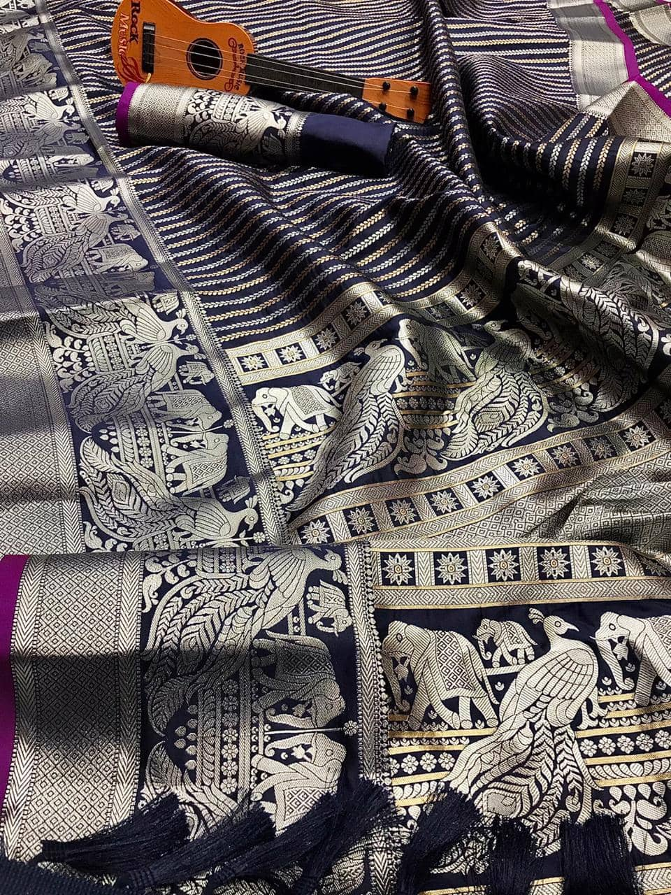 Classy Blue prime Kanjivaram silk saree dvz0002007