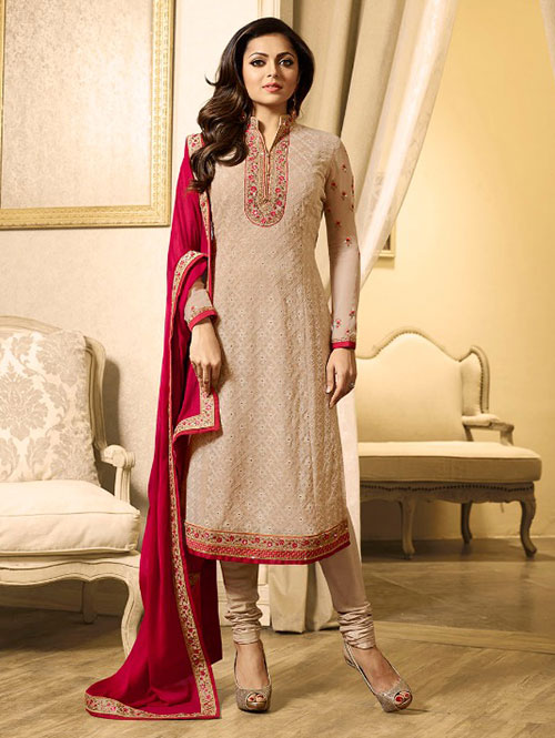 Cream-colored-beautiful-embroidered-georgette-straight-cut-suit-dvz00083 (2)