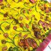 Dvanza Women's yellow Color Linen Printed saree Online dvz0001572
