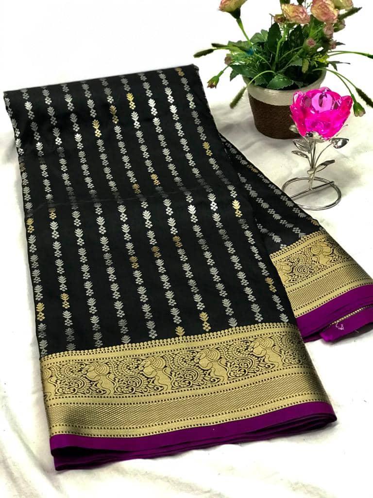 Exclusive Banarasi Silk Saree in Black dvz0002619-2