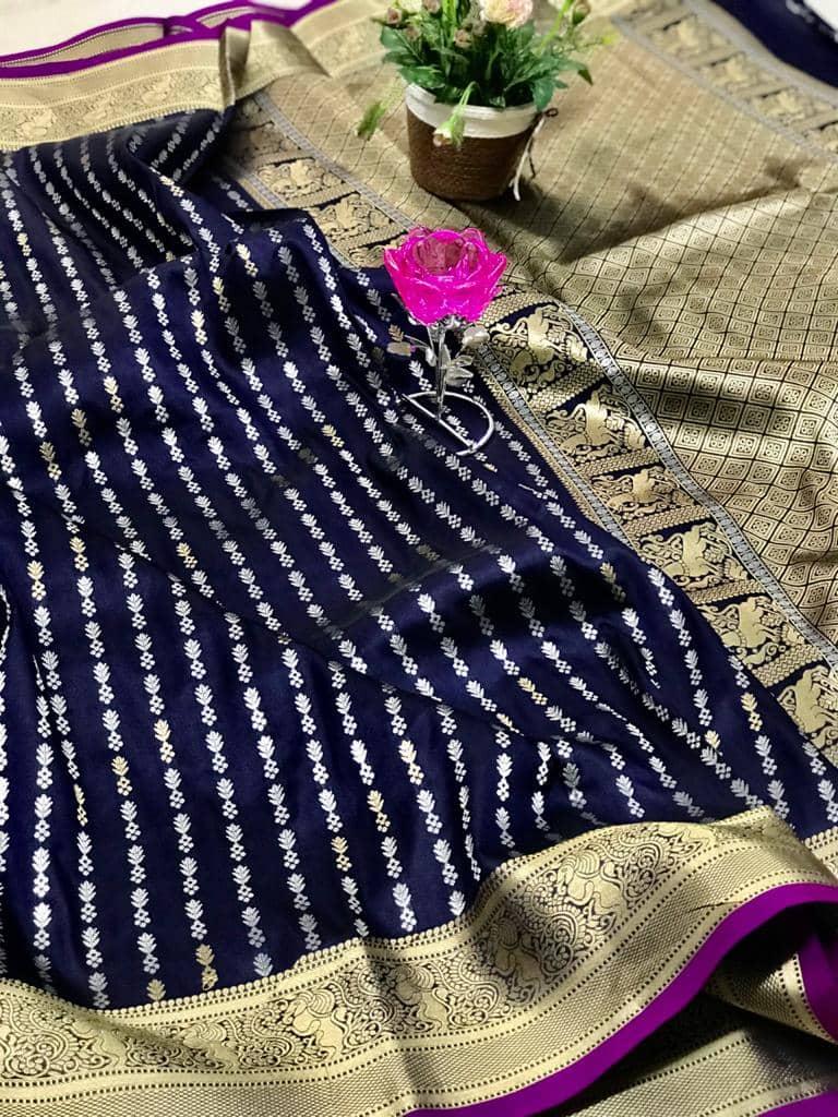 Exclusive Banarasi Silk Saree in Blue dvz0002620