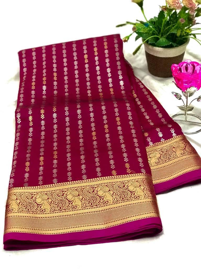 Exclusive Banarasi Silk Saree in Pink dvz0002624-2