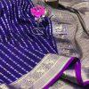 Exclusive Banarasi Silk Saree in Purple dvz0002625