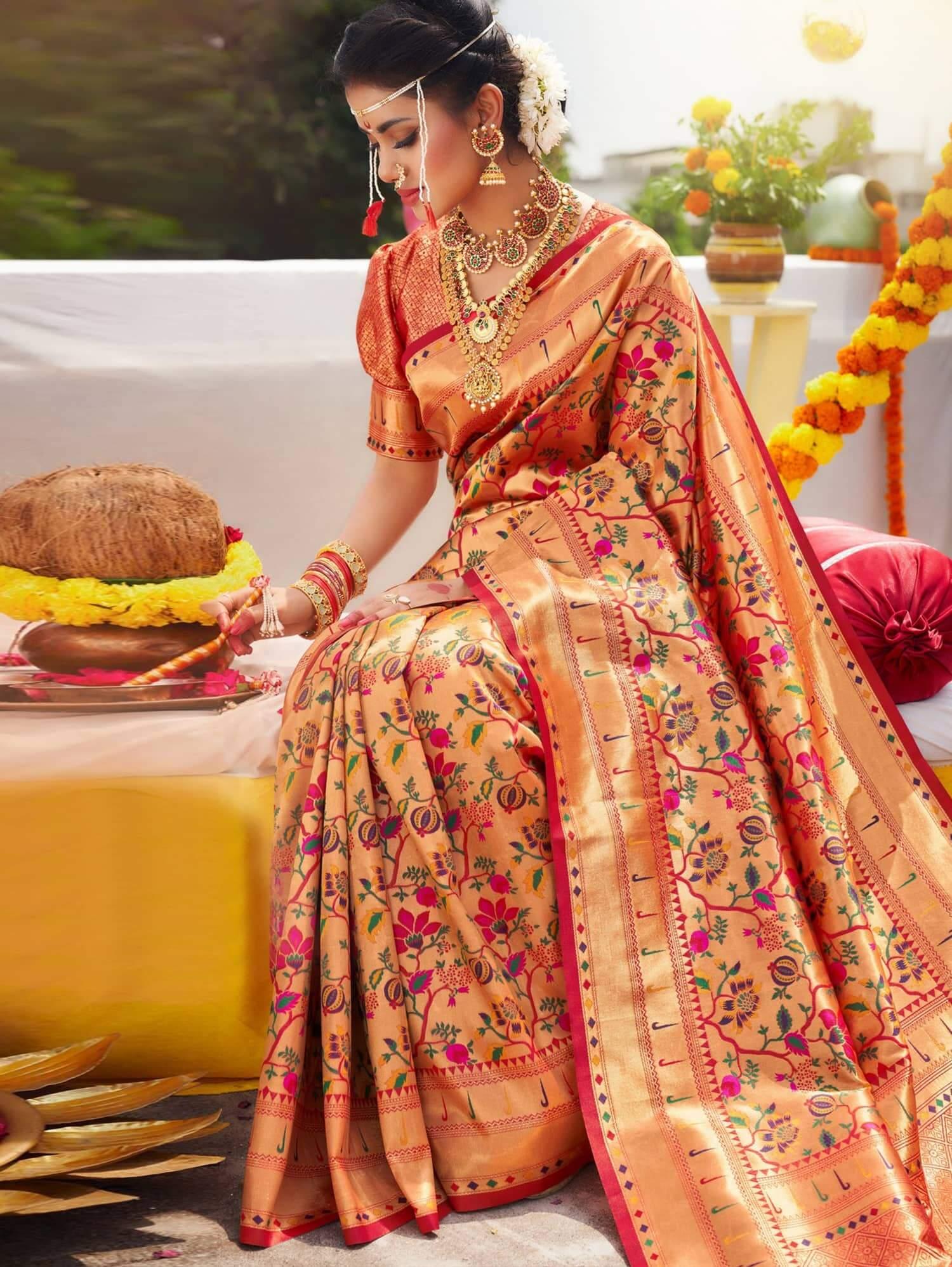 Exclusive Kanchipuram Silk Bridal Saree dvz0002475