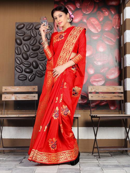 Exclusive Soft silk weaving saree in Red dvz0001177 - dvanza