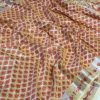 Exclusive kora muslin weaving sarees with pretty zari weaves (yellow) dvz0001514