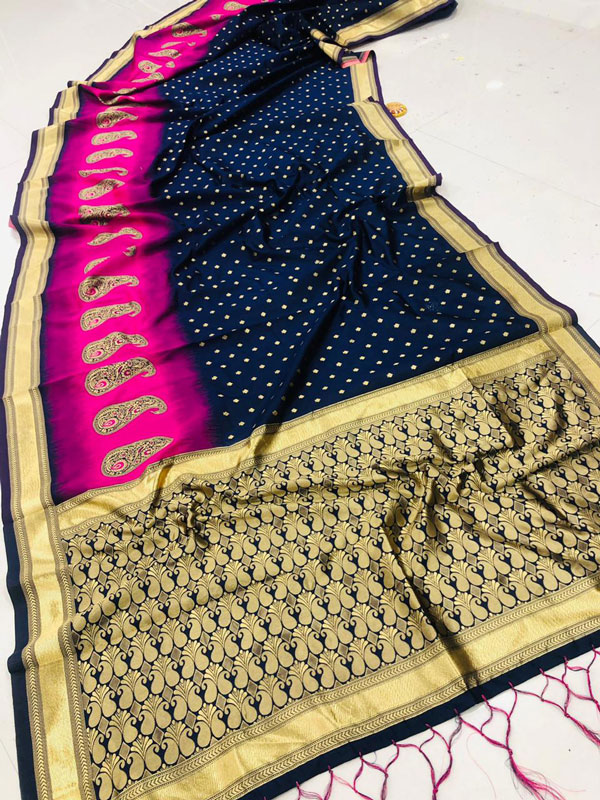 Fancy heavy Banarsi silk stylish Designer saree dvz0001283
