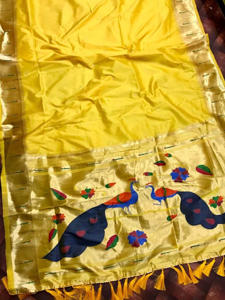 Function Special Yellow Kanchipuram silk saree dvz0002465