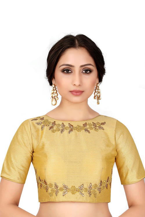 Golden Readymade Blouse online india dvz0001041