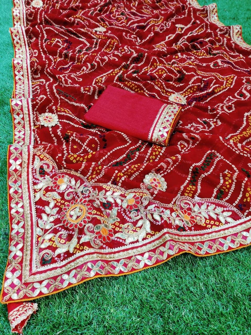 Gorgeous women's Bandhani Printed saree dvz0001660