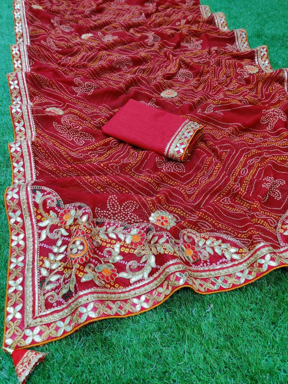 Gorgeous women's Bandhani Printed saree dvz0001663
