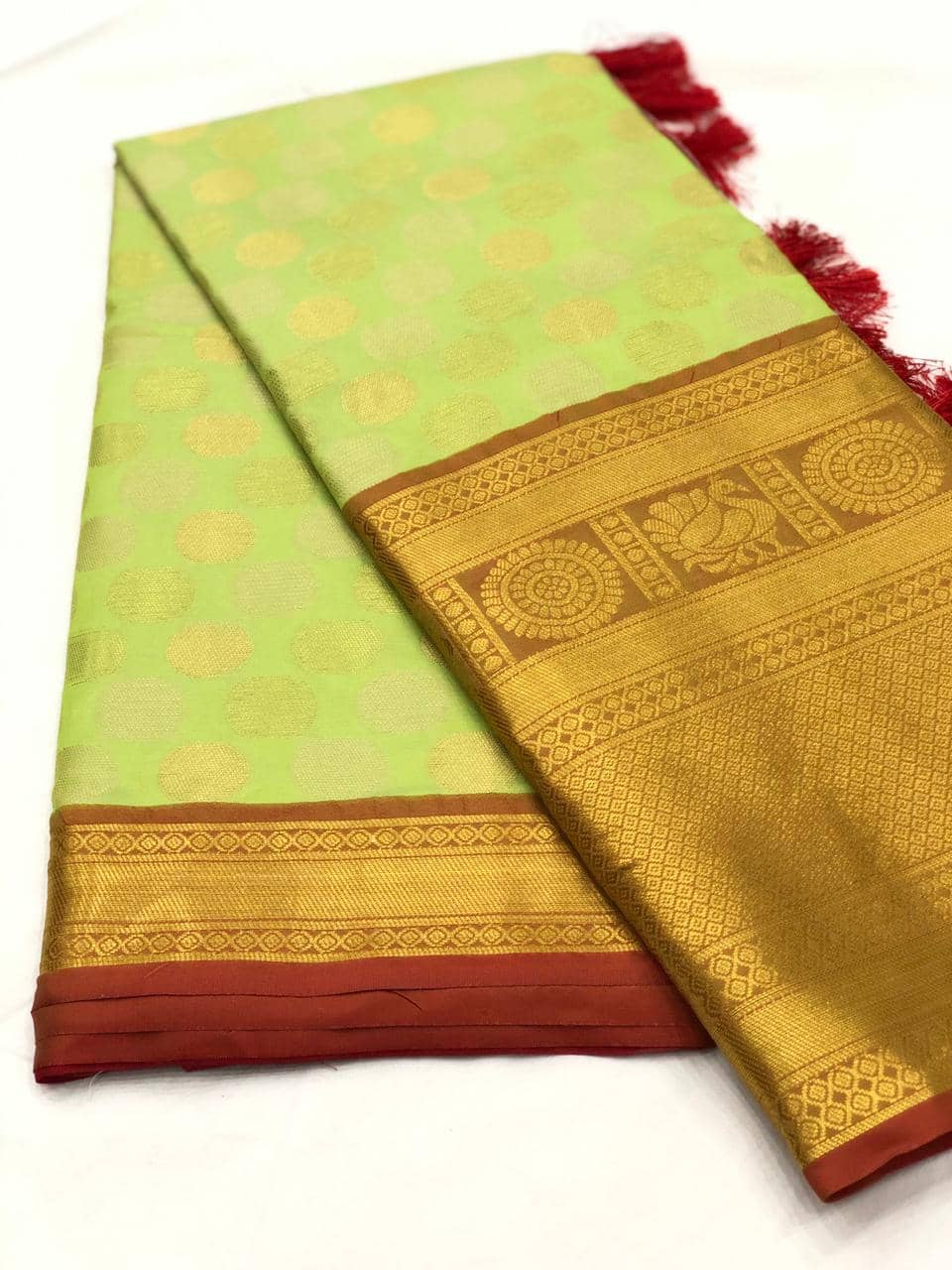 Green Designer Kanchipuram Silk Saree online india dvz0001729