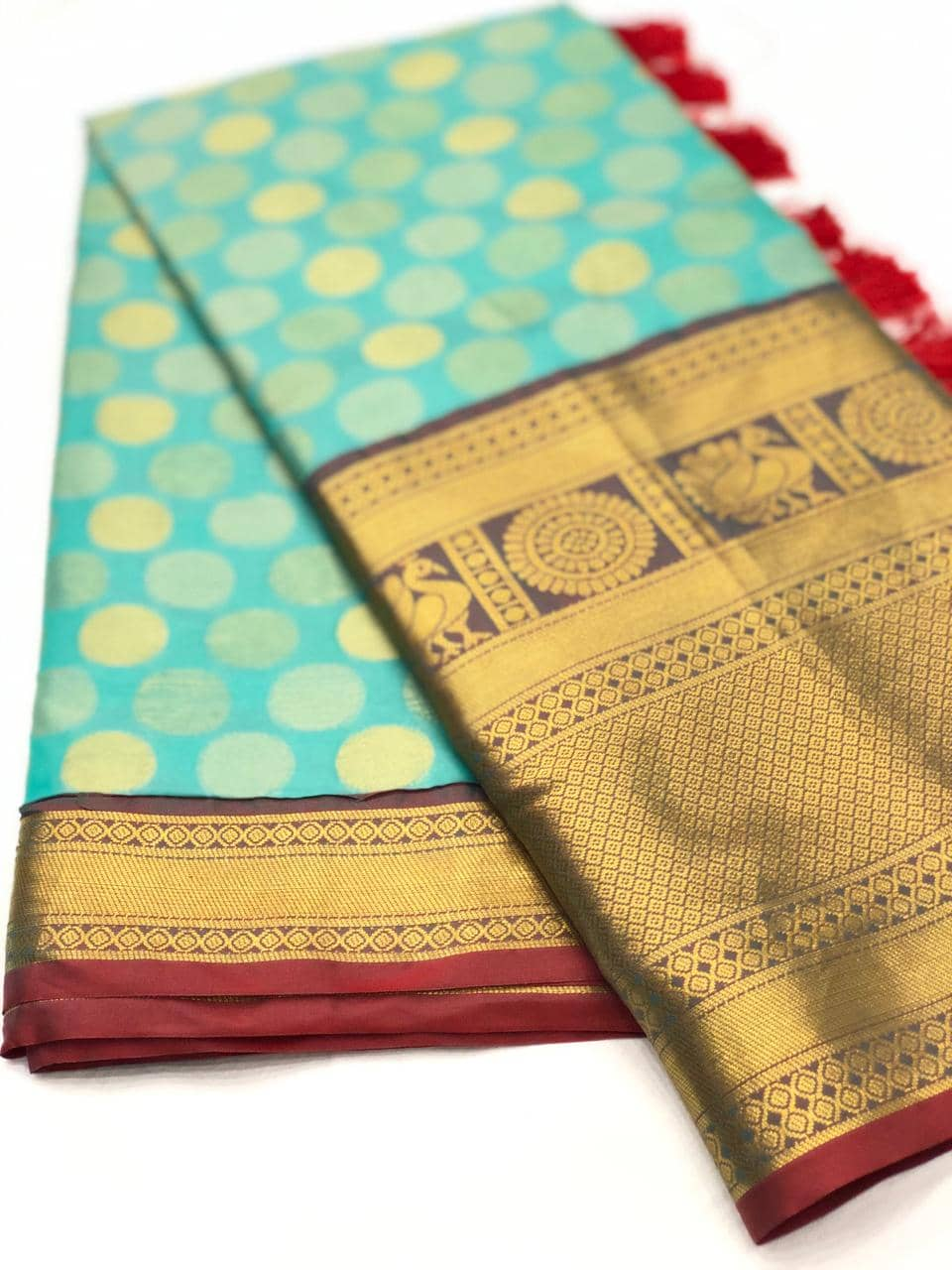 Green Designer Kanchipuram Silk Saree online india dvz0001732