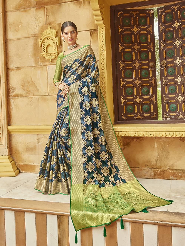 Green Soft silk Weaving Pallu work saree dvz0002667