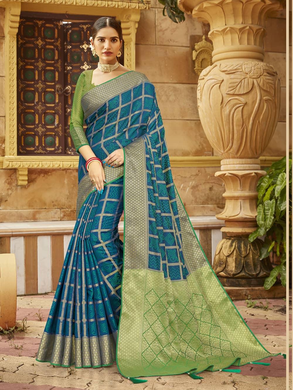 Green Soft silk Weaving Pallu work saree dvz0002677