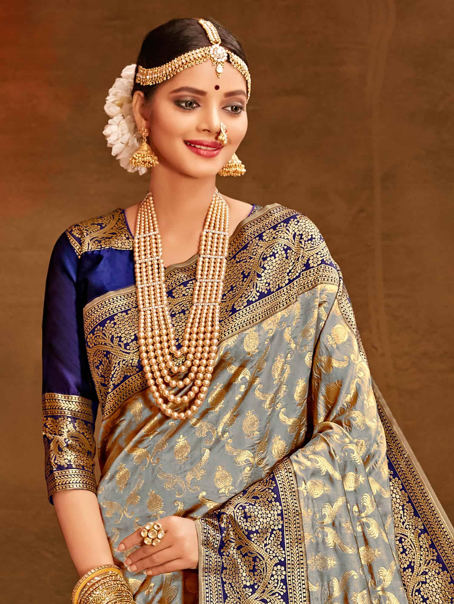Grey Fancy soft silk Traditional saree dvz0002512-2