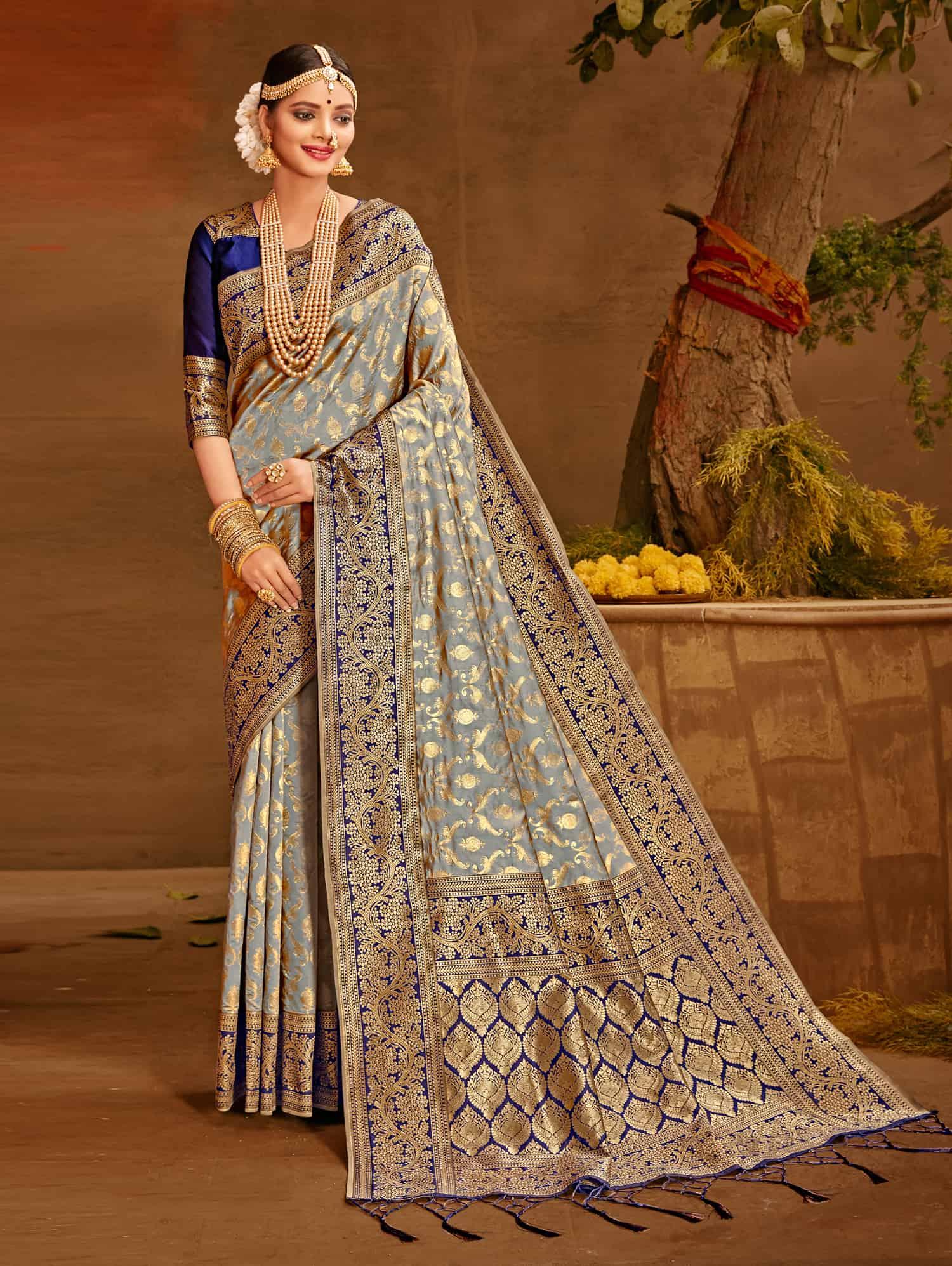 Grey Fancy soft silk Traditional saree dvz0002512