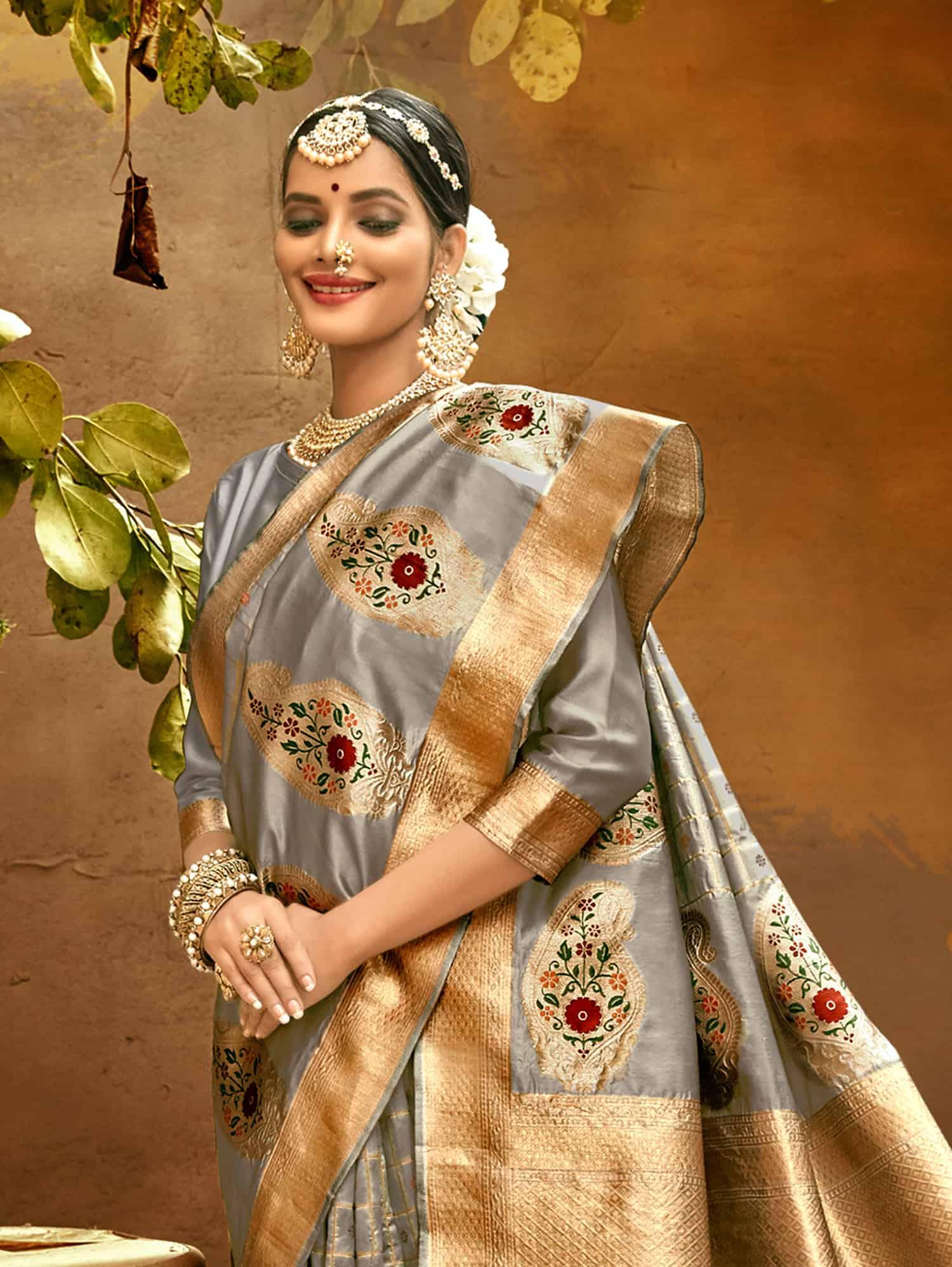 Grey Fancy soft silk Traditional saree dvz0002513-2