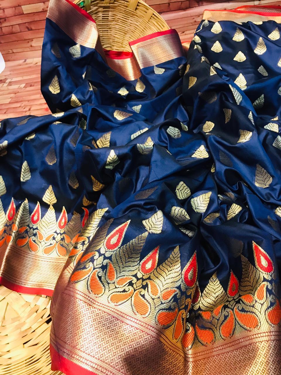 Kanchipuram Silk saree in Blue dvz0002275-2