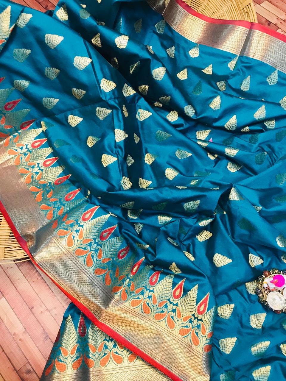 Kanchipuram Silk saree in Blue dvz0002277-2