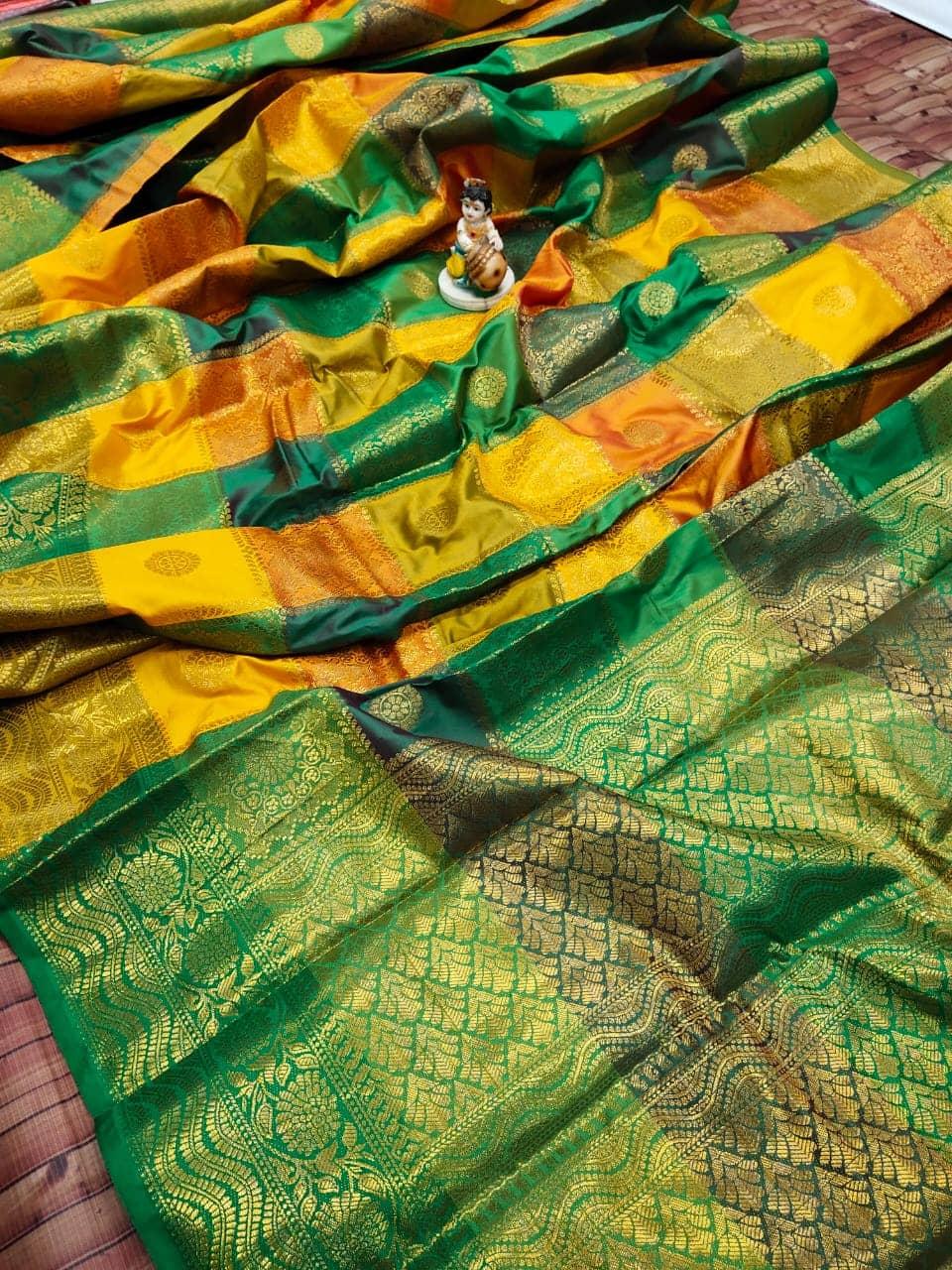 Kanchipuram soft lichi silk Box Design saree dvz0002156-2