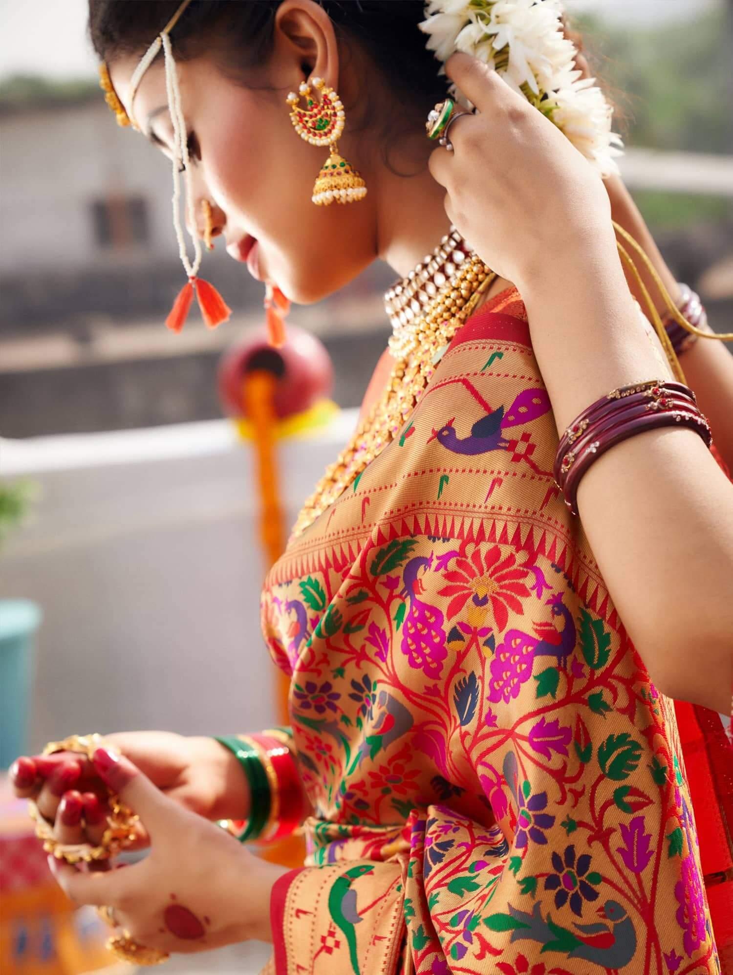 Latest Designer Kanchipuram Silk Bridal Saree dvz0002473-2