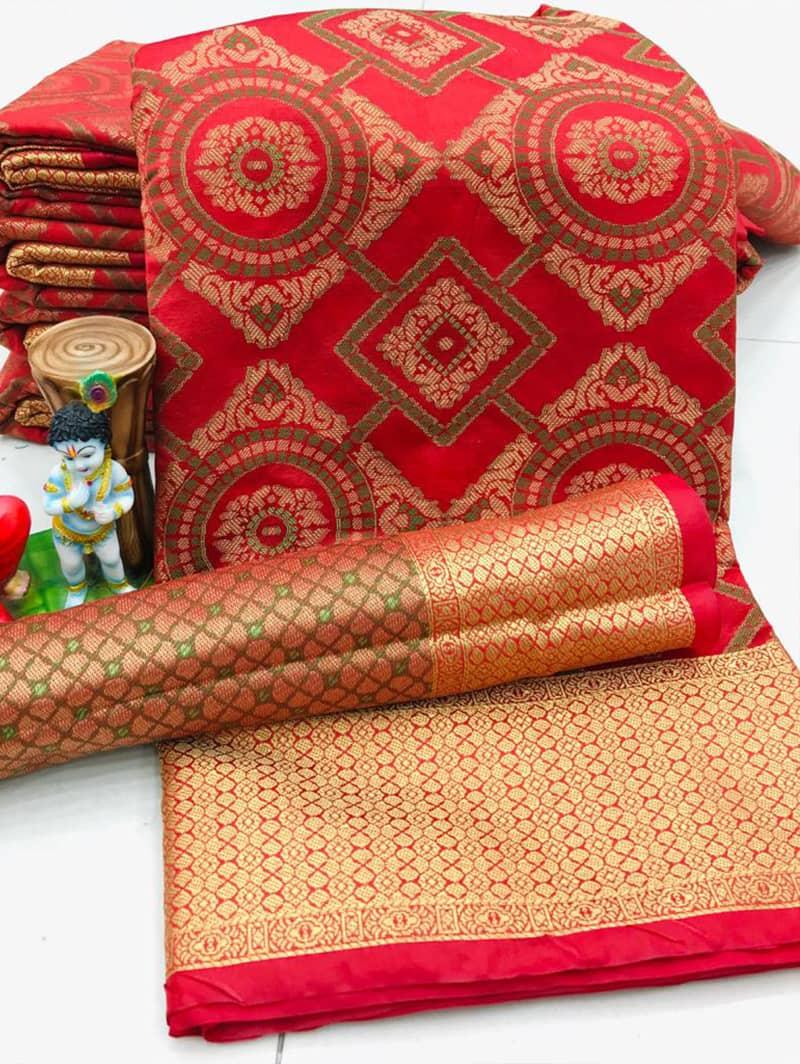 New Design Soft Banarasi Patola Saree in Peach dvz0002569