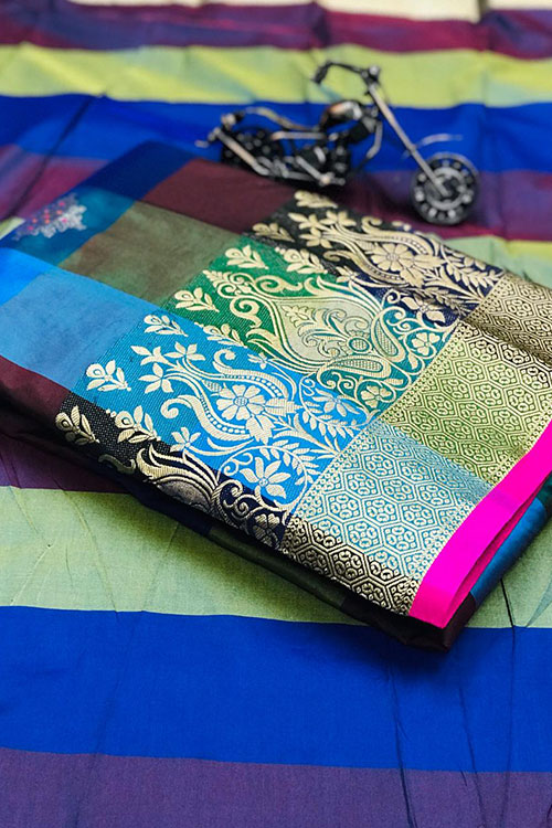 Online Banarasi Weaving Handloom silk Extra ordinary saree design dvz0001007-1