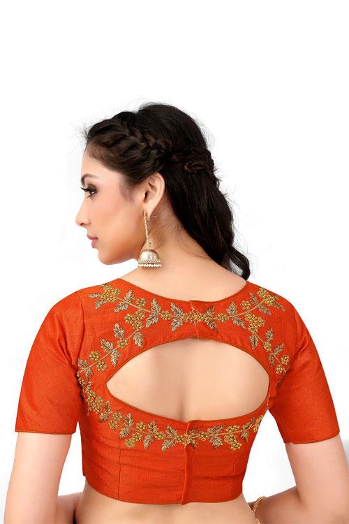 Orange Readymade indian designer Blouse dvz0001038