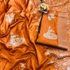 Orange lichi silk with full body weaving jari & new extra ordinary design dvz0001711